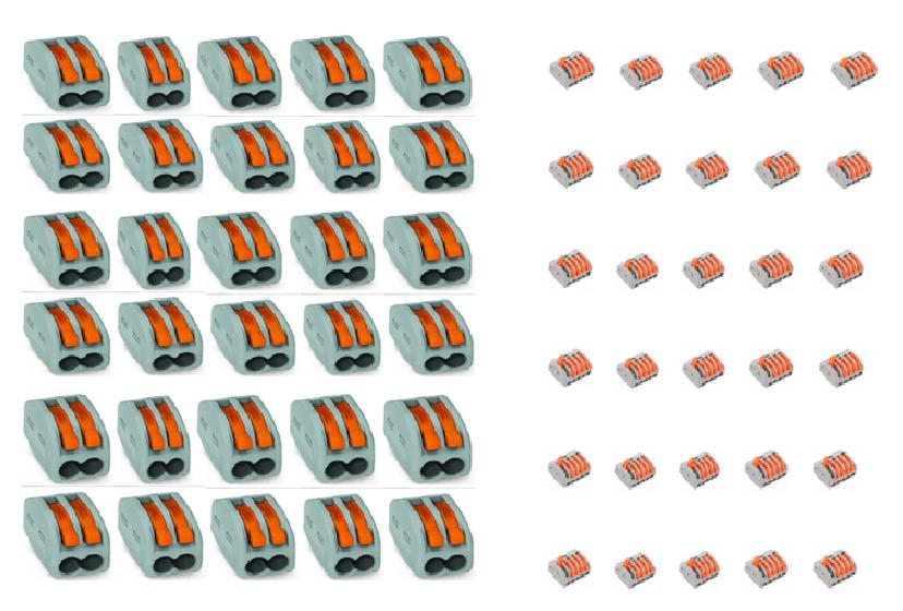 KIT CONECTORES 2 FIOS + 5 FIOS 60 PEÇAS