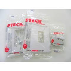 KIT 5 INTERRUPTOR SIMPLES 4X2 STECK/STELLA BRANCO