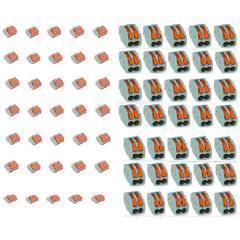 KIT CONECTORES 2 FIOS + 5 FIOS 70 PEÇAS