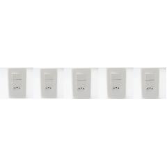 5 INT. SIMPLES C/ 2 TECLA +1 TOMADA 10A 4X2 - STECK STELLA