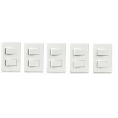 5 INTERRUPTOR SIMPLES C/ 2 TECLA 4X2 - STECK STELLA