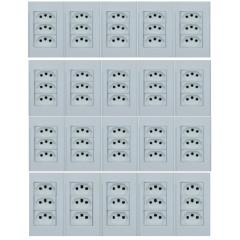 20 TOMADA COM 3 MODULO 10A  4X2 BRANCO - STECK STELLA